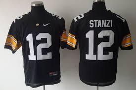 cheap Jersey Jerseys Jerseys Nfl discount 12 Football Nhl Ncaa Iowa wholesale Jersey Ricky Black Hawkeyes Stanzi Jersey Cheap