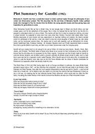 gandhi essay plot summary for gandhi 1982