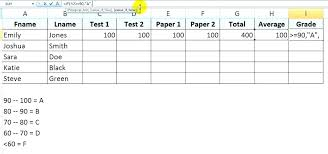 Ms Excel Student Grade And Tracker Template Prinsesa Co