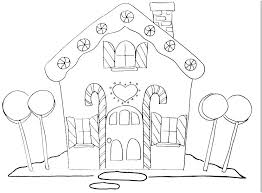 Coloring Pages Gingerbread House House Color Page Gingerbread Houses