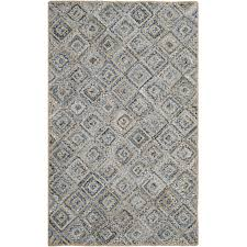 safavieh cape cod 11 x 15 handmade jute rug in natural and blue