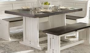 corner dining furniture. Interesting Dining Two Tone French Country 4 Piece Corner Dining Nook Bourbon County With  Regard To Bench Ideas 10 Furniture N