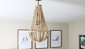 wood bead light fixture astonish diy chandelier from beads designer trapped in a lawyer s