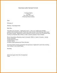 Formal Business Letter Format Template Choice Image Examples Form