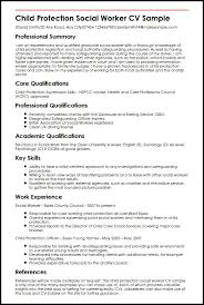 Example Of Social Work Resumes Child Protection Social Worker Cv Sample Myperfectcv