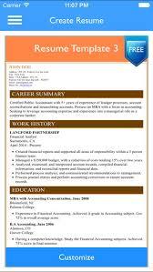 Free Resume Builder App Magnificent Free Resume Builder App Professional CV Maker And Resumes Designer