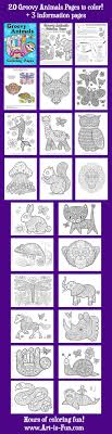 Small Picture Groovy Animals Coloring Pages PDF 20 Printable Animal