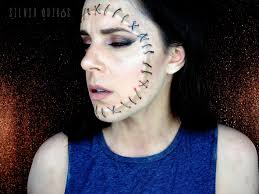 beauty mask in a zombie makeup tutorial