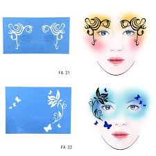 face paint stencil flower erfly diy design painting reusable eye makeup template for makeup tool temporary back temporary