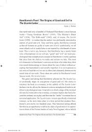 pdf hawthorne s pearl the origins of good and evil in the scarlet letter