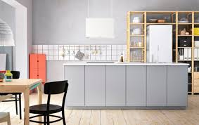 modern white kitchens ikea. Modern Large Kitchen Island In Grey With VEDDINGE Fronts, IVAR Shelves Solid Pine And White Kitchens Ikea