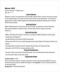 Experience Resume 2 MBA Experienced Resume Format
