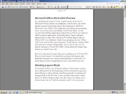 microsoft office word preview office content from supersite reading layout mode