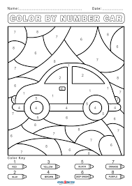 With number coloring pages, these can both teach children the different colors and also the different numbers. Free Color By Number Worksheets Cool2bkids