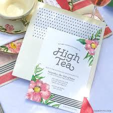 Tea Invitations Printable Printable High Tea Party Invitations Lia Griffith