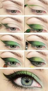 cool eyeshadow looks cool green winged eyeshadow