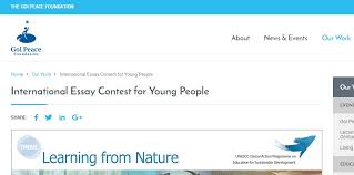 international essay contest for young people learning armacad