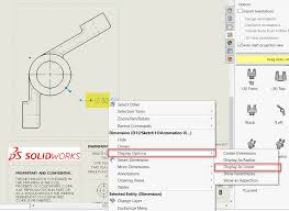 Solidworks draft is features tool which used to create tapered faces on specified angle, using a netural plane or parting line. Aligning Linear Diameter Dimensions In Solidworks Drawings