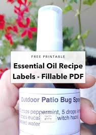 Recipe Labels Free Printable Essential Oil Bottle Labels Tortagialla