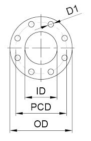 Flange Od Id Pcd Chart Online Flat Pattern Generation Tool