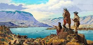 oregon blue book oregon student essays web exhibit the lewis and clark expedition overlooks the columbia river in this mural by robert thomas in