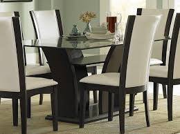 Dining Room Leather Chairs Dohatour - Glass dining room furniture sets