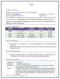 Gallery of: Mba resume format for freshers in finance