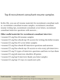 recruitment consultant cv top 8 recruitment consultant resume samples 1 638 jpg cb 1430028510