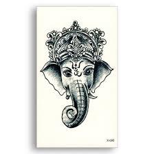 3d Temporary Tattoo Sticker Lord Ganesha Design Size 105x6cm 1pc 95