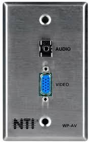 vga s video composite video audio cable terminator wallplate tv wp av vga stereo audio cable terminator