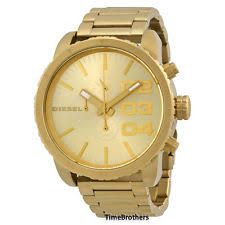 diesel double down 51 dz4268 wrist watch for men item 7 new diesel watch men chronograph all gold stainless steel dz4268 msrp 240