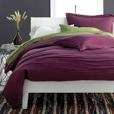 the company jersey knit cotton merlot twin xl duvet cover