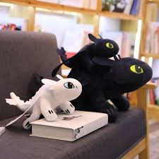 Child Night Light Stuffed Animal Discount 35 60cm Toothless Light Fury How To Train Your