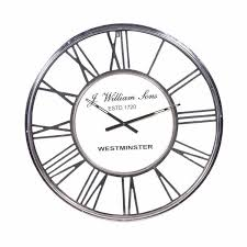 kng chrome roman numeral round wall clock awesome chrome wall clocks