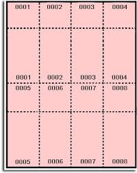 400 Label Outfitters Pink Pre Numbered Raffle And Event Tickets Laser And Inkjet Printable 50 Sheets 8 Numbered Tickets And Stubs Per Sheet