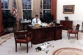 george bush oval office. Having A Ball: President George Bush And His Dog Millie In The Oval Office At White House N