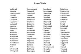 Sentence For Resumes Power Words Resume Power Words Executive Resume Powerful
