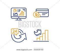 Analytics Graph Vector Photo Free Trial Bigstock
