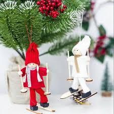 Toy <b>Ski</b> Girl Home decor Hanging <b>Christmas Ornament</b> Xmas Tree ...