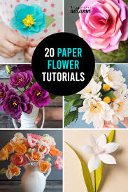 Cartolina Paper Design How To Make Gorgeous Paper Flowers 20 Diy Flower Tutorials