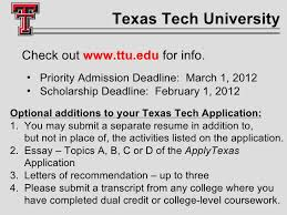 cisd guidance for seniors  texas tech university
