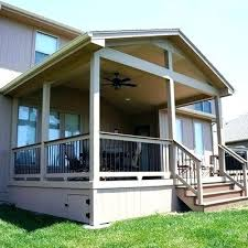 covered deck ideas. Roof Over Deck Ideas Designs Small Design Gable Covered T