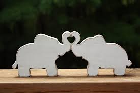 elephants in love elephant trunk heart wedding decoration