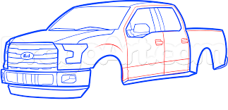 How to Draw an F-150 Ford Pickup Truck, Step by Step, Trucks ...