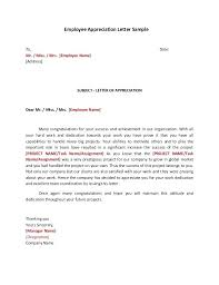 Letter Of Recognition Examples Employee Recognition Letter Examples Fabulous Letters