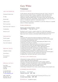 Where To Add Volunteer Work On Resume Free Resume Example And