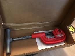 Ridgid 202 Wide Roll Heavy Duty 1 8in To 2in Pipe Cutter 32895