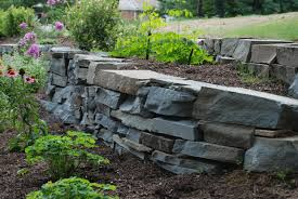 loose flagstone patio. Wayne Stone Wall Landscaping Loose Flagstone Patio