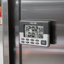 taylor 5872 9 jumbo digital dual event kitchen timer with memory and clock