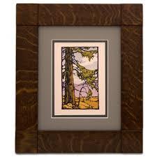 custom wood picture frames. 8×10 Mission Flush Corner Block Frame IS2057 Custom Wood Picture Frames